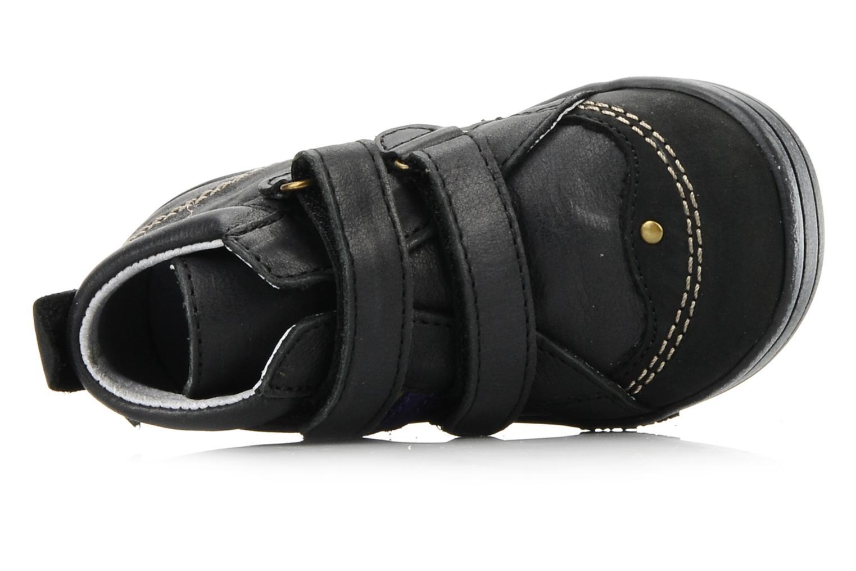 Schoenen met klitteband Kickers Taylor Zwart links