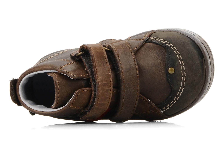 Schoenen met klitteband Kickers Taylor Bruin links