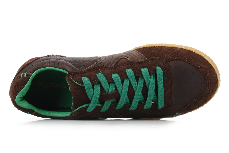 Sneaker Kickers Optimum braun ansicht von links