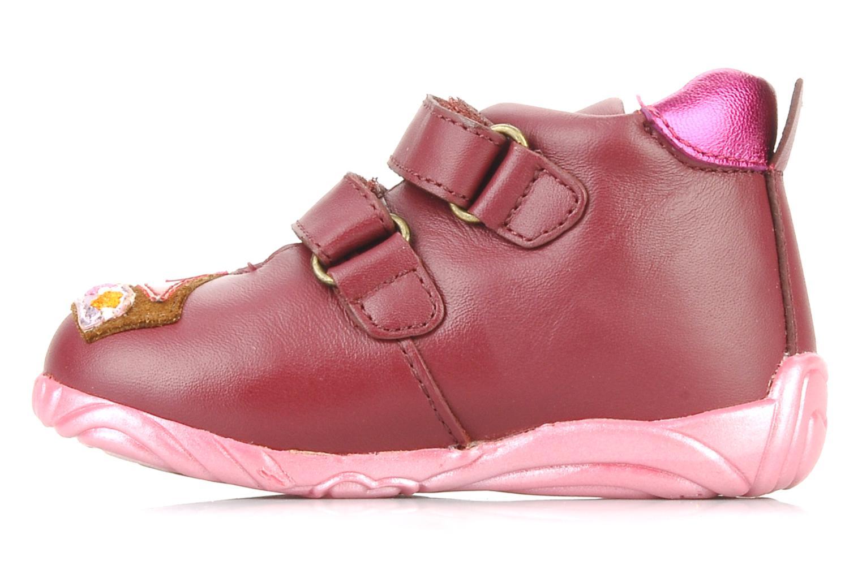 Chaussures à scratch Agatha Ruiz de la Prada Arone Rose vue face