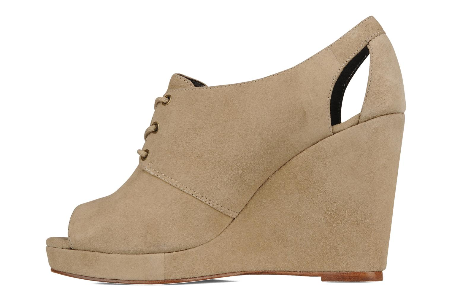 Lace-up shoes Tila March Wedge derby Beige front view