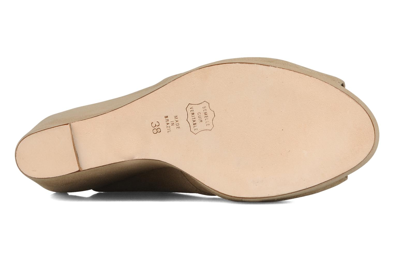 Lace-up shoes Tila March Wedge derby Beige view from above
