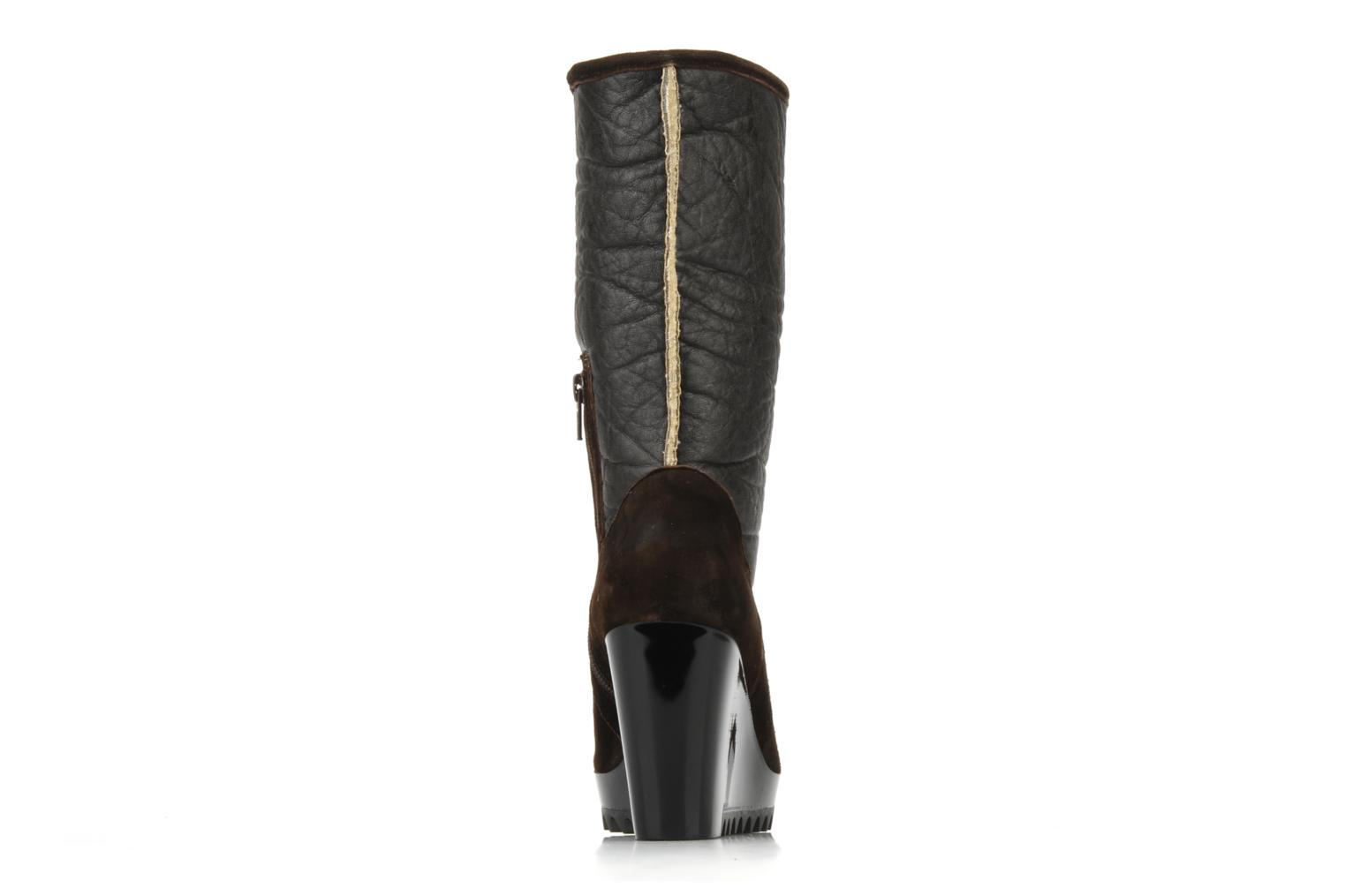 Ankle boots Espace Caida Brown view from the right