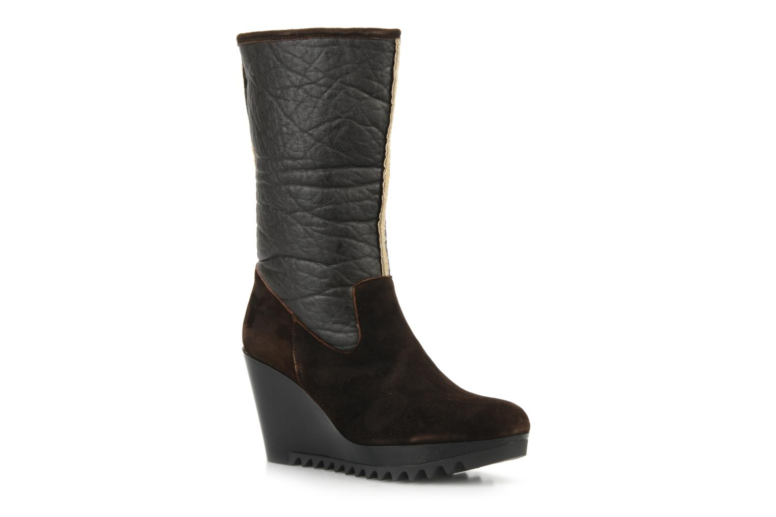 Ankle boots Espace Caida Brown detailed view/ Pair view