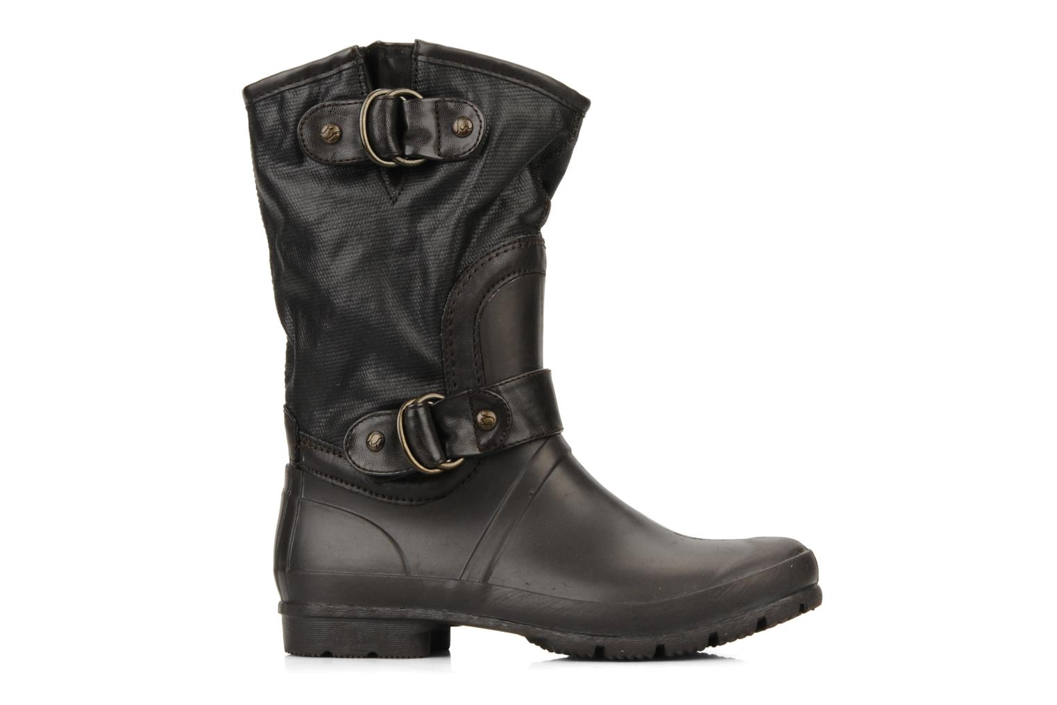 Ankle boots Mustang shoes Enrica Brown back view
