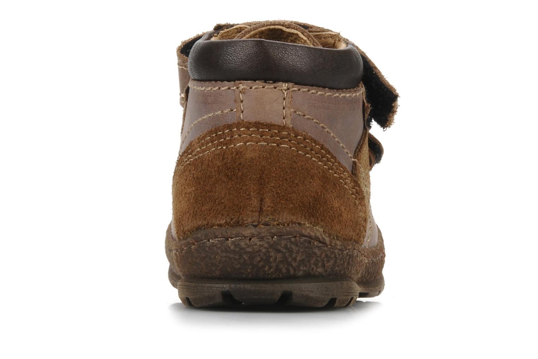 Zapatos con velcro Mod8 Rado Marrón vista lateral derecha