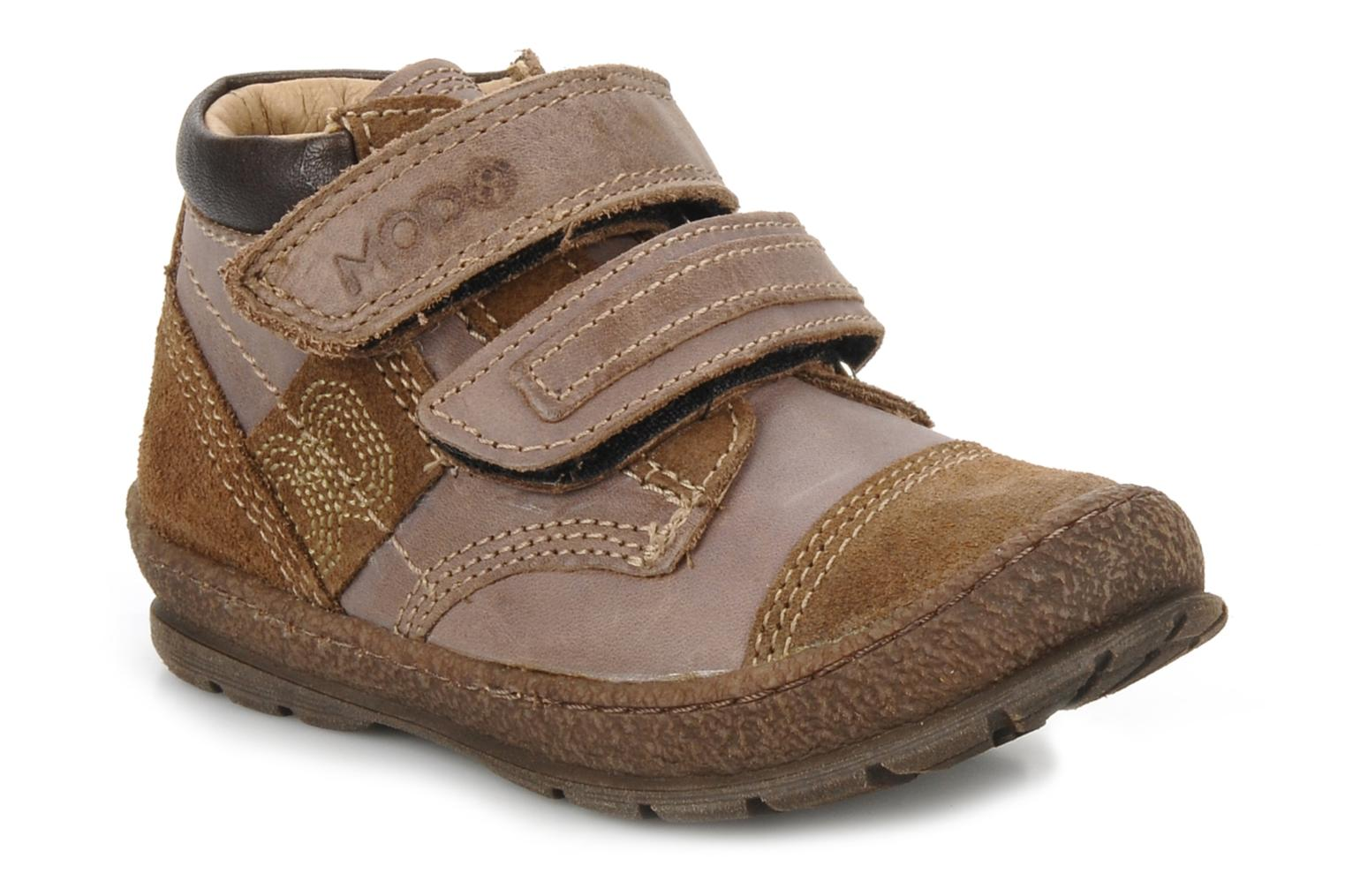 Velcro shoes Mod8 Rado Brown detailed view/ Pair view