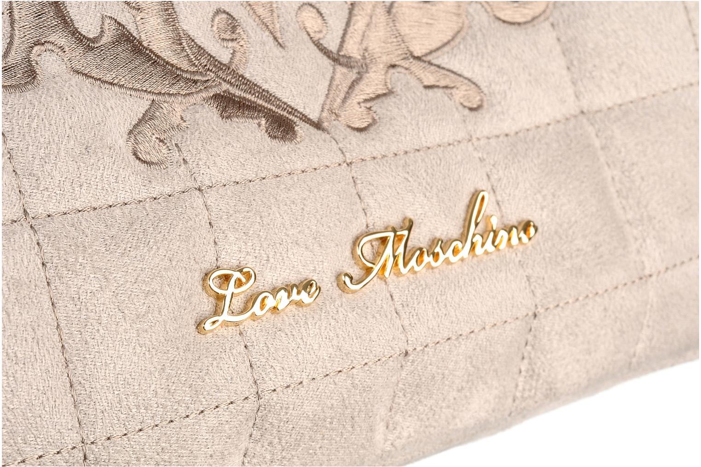 Borse Love Moschino Mono quilt shoulder Beige immagine sinistra