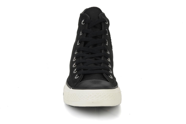 Baskets Converse Chuck taylor all star coated twill textile hi m Noir vue portées chaussures