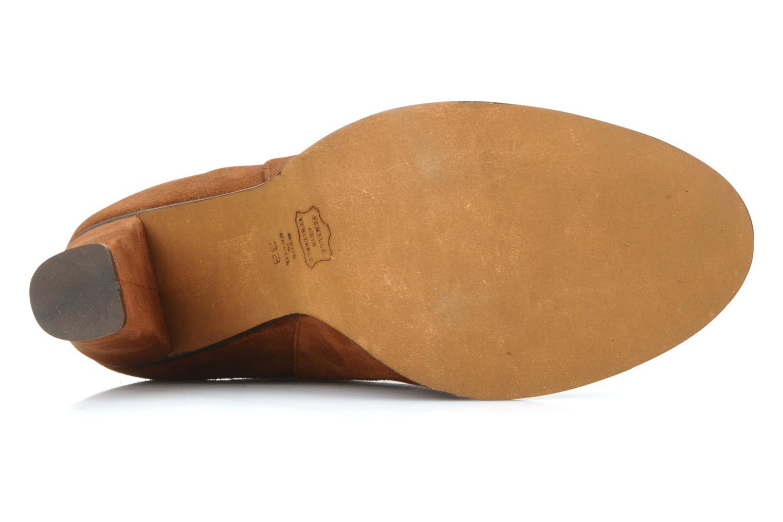 Bottines et boots Tila March Booty corolle suede Marron vue haut