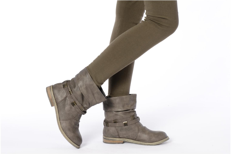 Bottines et boots Blowfish Texas Beige vue bas / vue portée sac