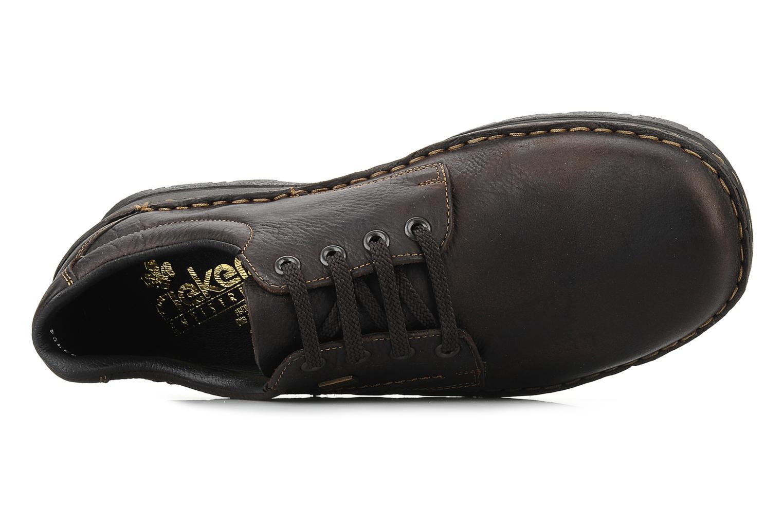 Chaussures à lacets Rieker Riek 05310 Marron vue gauche