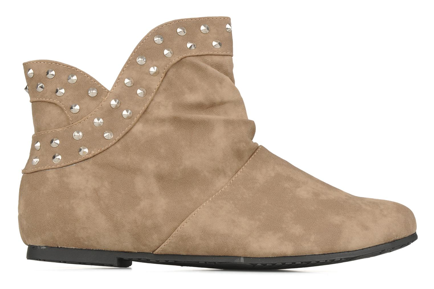 Ankle boots Latinas Botin Beige back view
