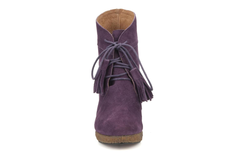 Stiefeletten & Boots Friis & company Belinda lila schuhe getragen