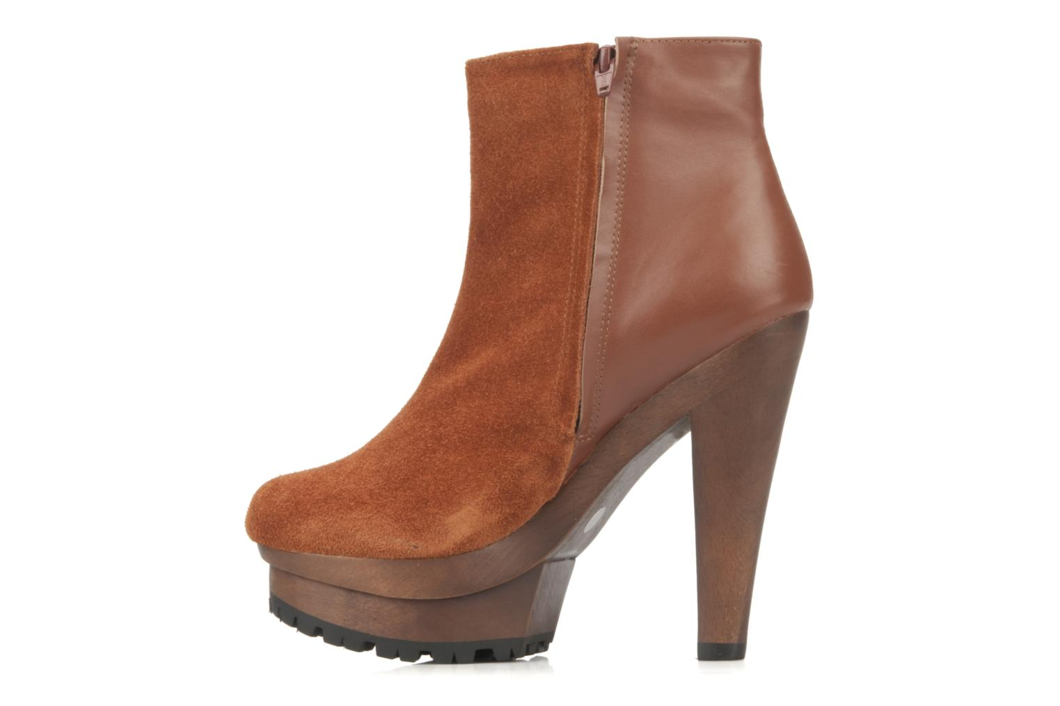 Ankle boots Friis & company Beata Brown front view