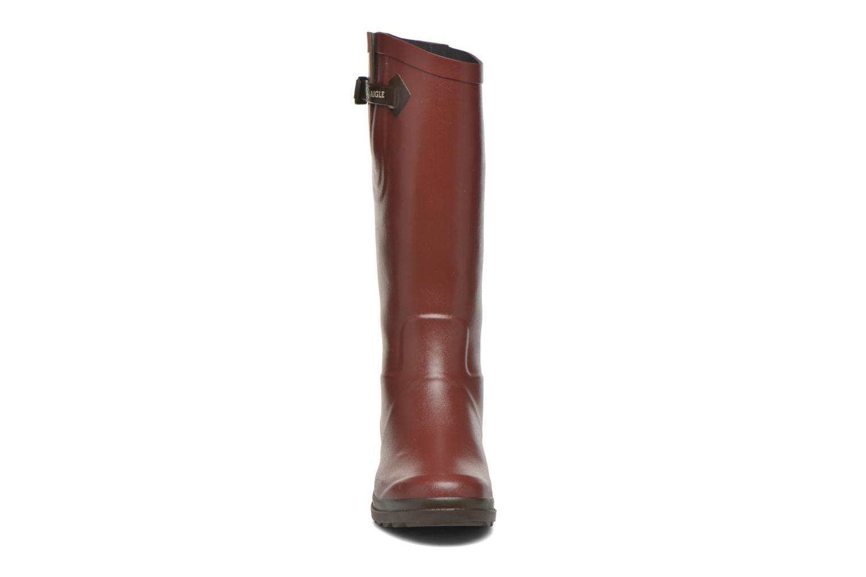 Bottes Aigle Aiglentine Marron vue portées chaussures