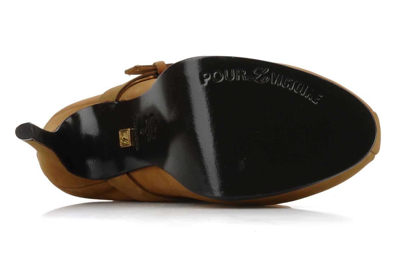 Bottines et boots Pour La Victoire Lizzie Marron vue haut