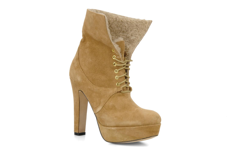 Ankle boots Pour La Victoire Aileen Beige 3/4 view