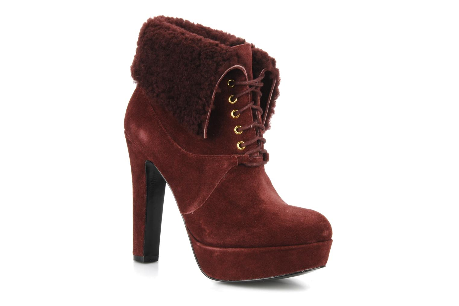 Ankle boots Pour La Victoire Aileen Burgundy detailed view/ Pair view