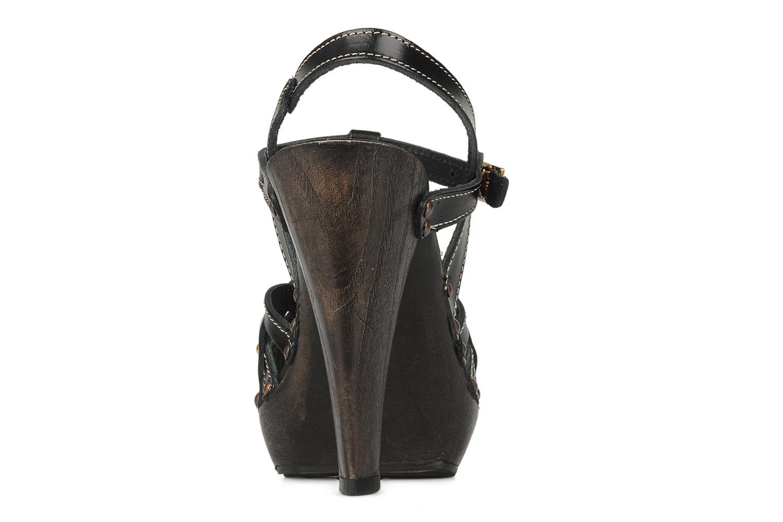 Sandales et nu-pieds Mustang shoes Ruy Noir vue droite
