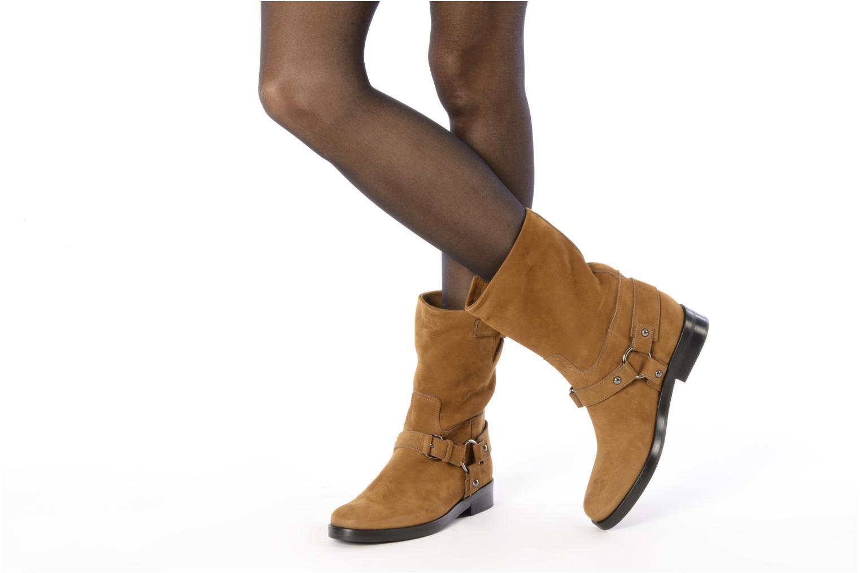 Bottines et boots Kéy Té By Kallisté Clorida Marron vue bas / vue portée sac
