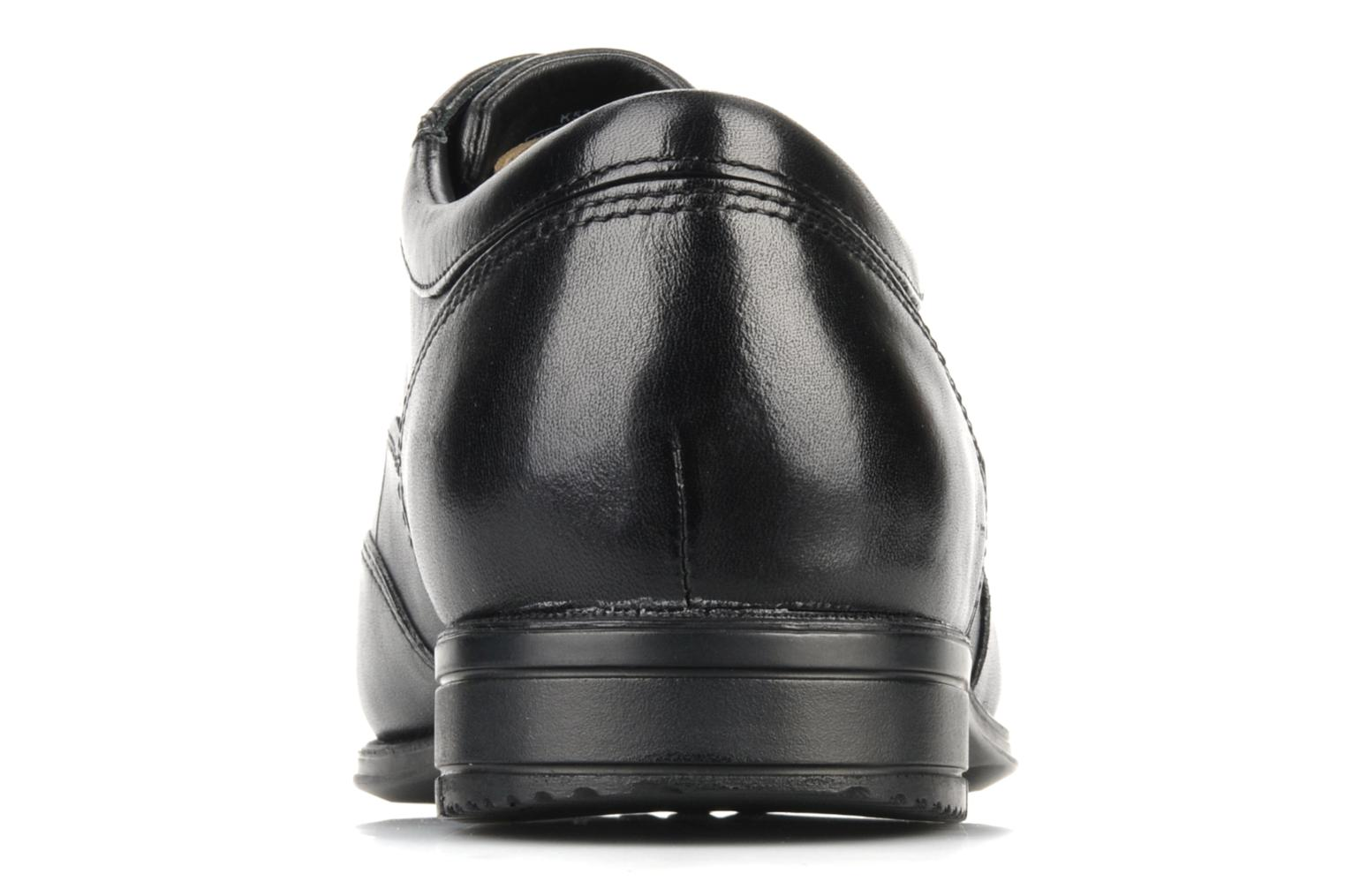 Lace-up shoes Rockport Hillandale Black view from the right