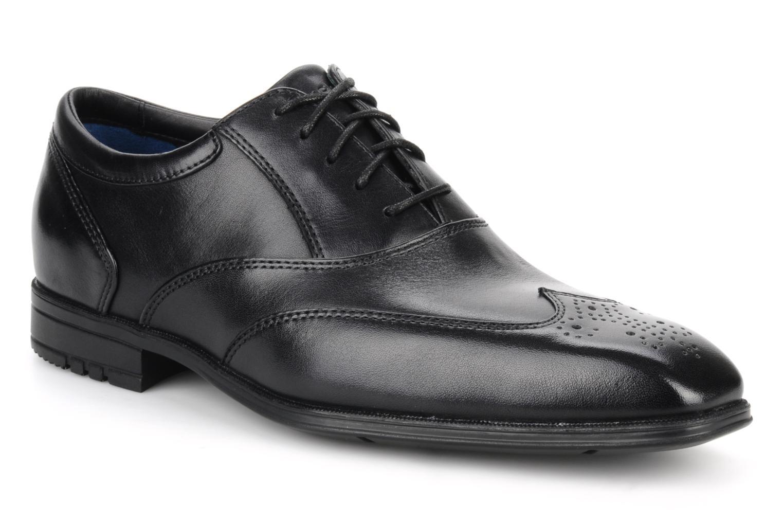 Lace-up shoes Rockport Hillandale Black detailed view/ Pair view