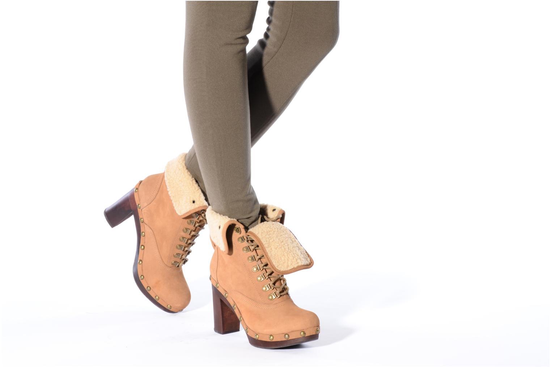 Stiefeletten & Boots No Name Mikonos boots fur beige ansicht von unten / tasche getragen