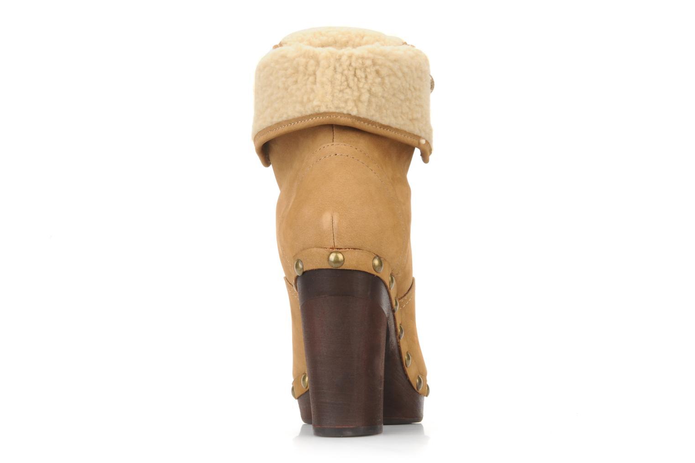 Stiefeletten & Boots No Name Mikonos boots fur beige ansicht von hinten