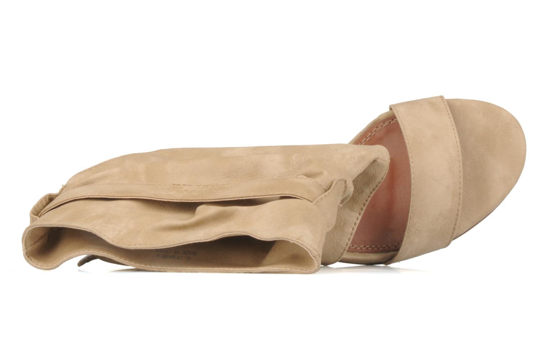 Sandales et nu-pieds Spot On Marila Beige vue gauche