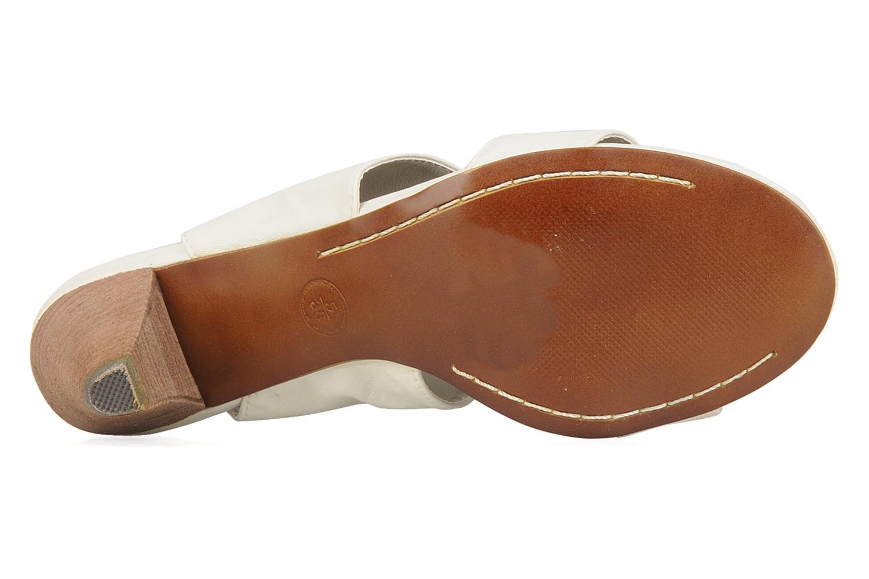 Sandales et nu-pieds Spot On Marila Blanc vue haut