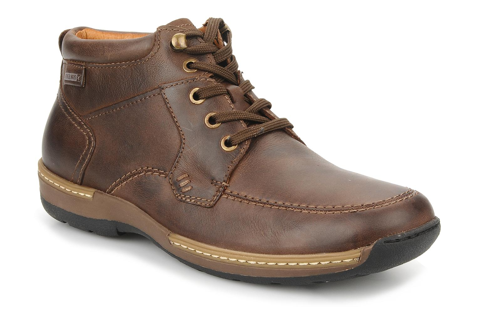 Ankle boots Pikolinos Seattle 5577f Brown detailed view/ Pair view