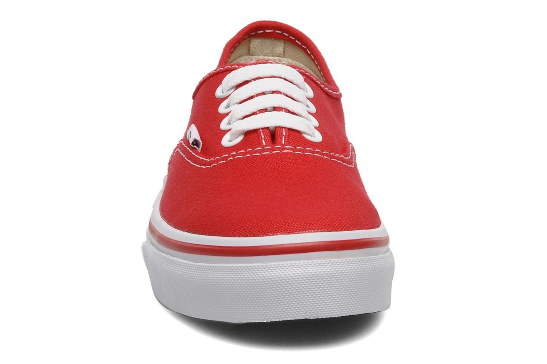 Baskets Vans Authentic E Rouge vue portées chaussures