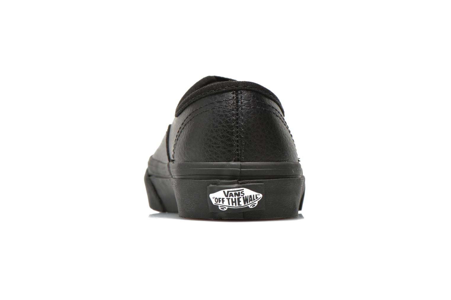 Trainers Vans Authentic E Black view from the right