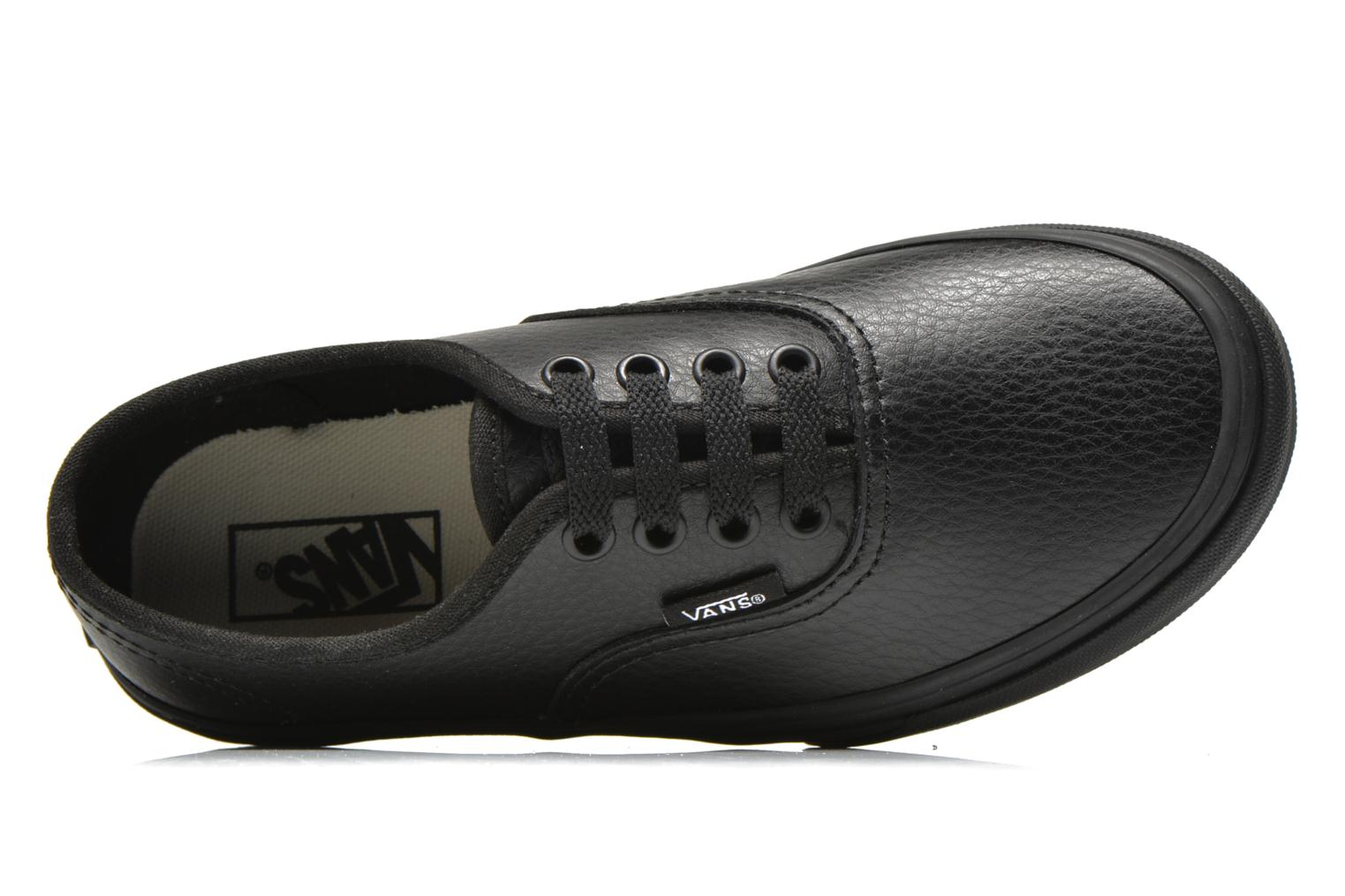 Baskets Vans Authentic E Noir vue gauche