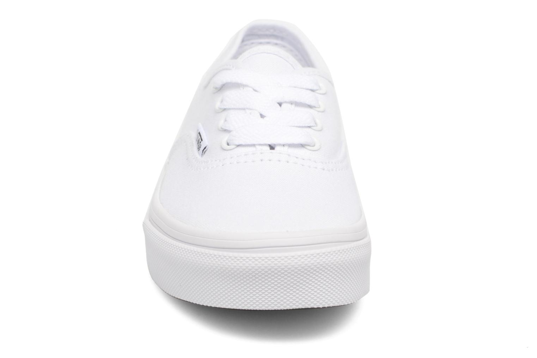 Sneaker Vans Authentic E weiß schuhe getragen