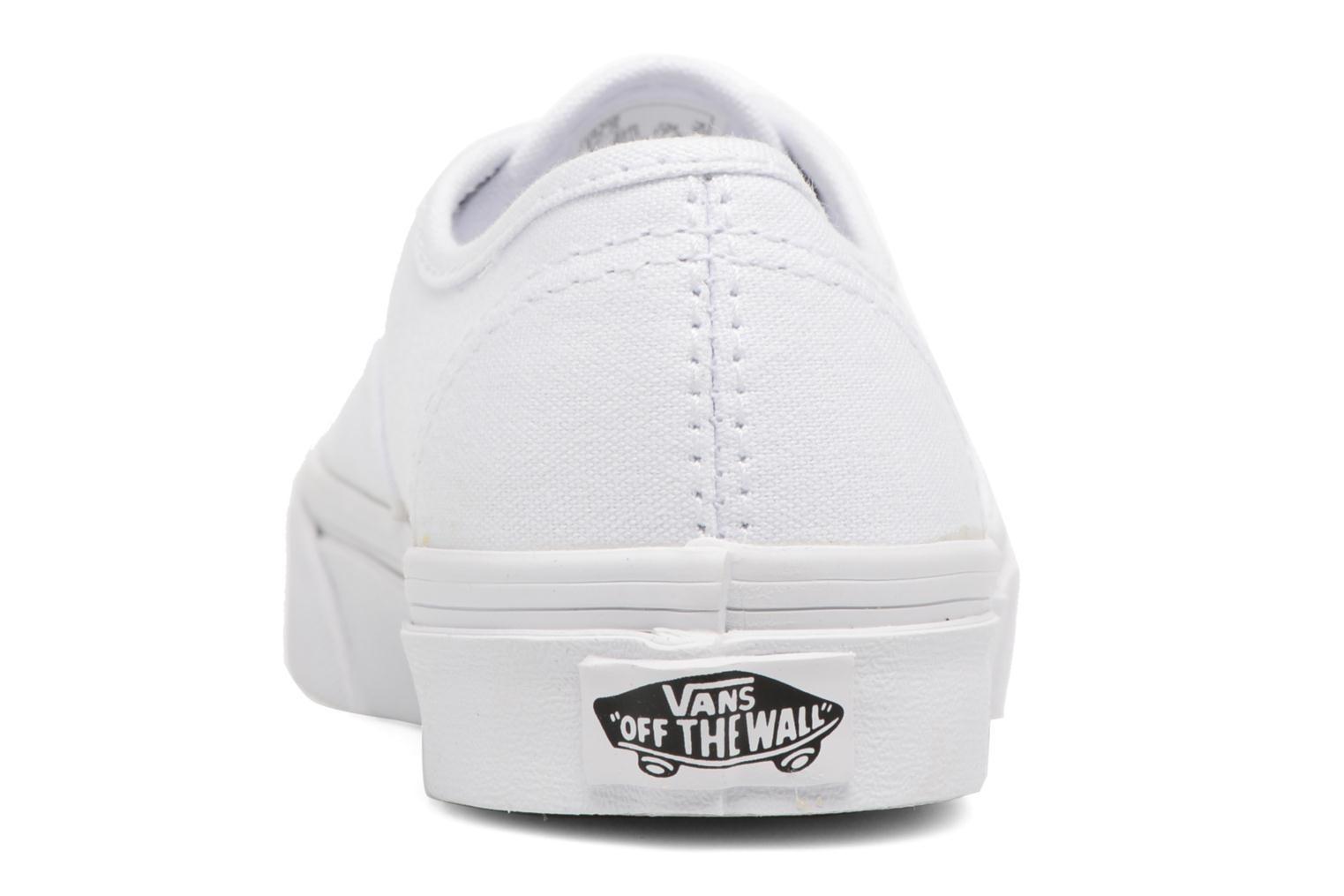 Baskets Vans Authentic E Blanc vue droite