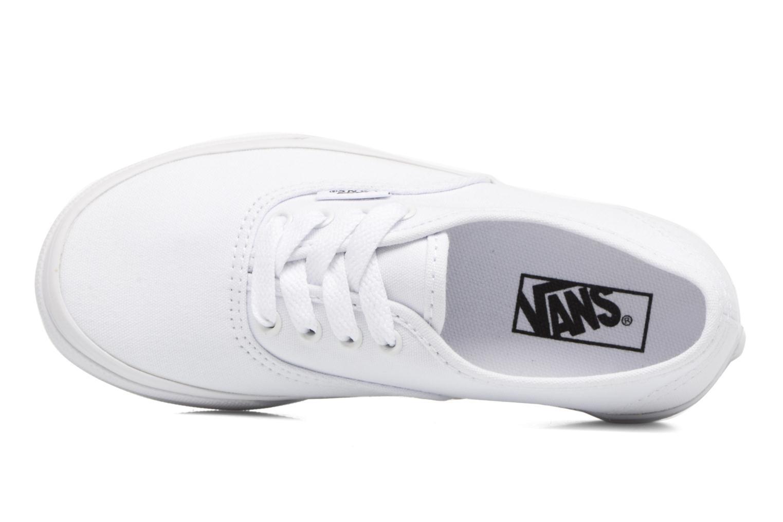Sneaker Vans Authentic E weiß ansicht von links