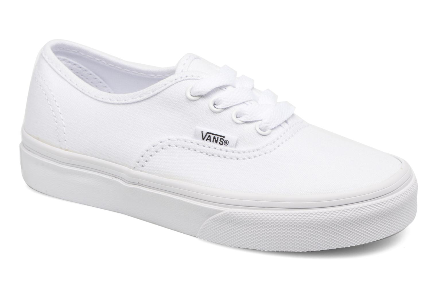 Baskets Vans Authentic E Blanc vue détail/paire
