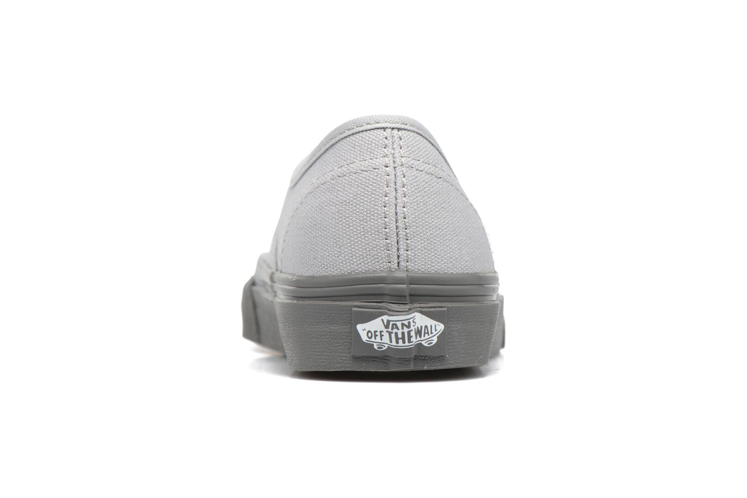 Trainers Vans Authentic E Grey view from the right