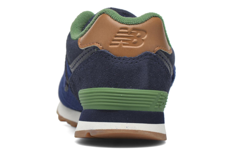 Sneaker New Balance Kv574NEI blau ansicht von rechts