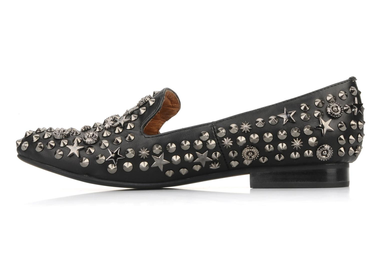 Elegant studs Black leather