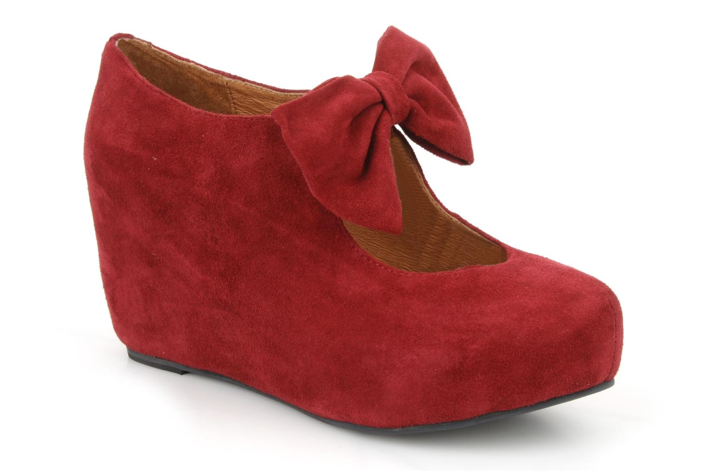 High heels Jeffrey Campbell Papillon Burgundy detailed view/ Pair view