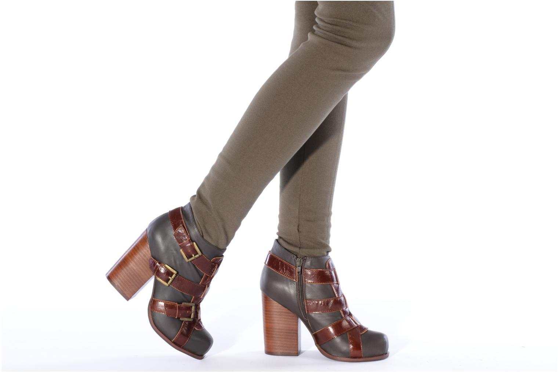 Bottines et boots Jeffrey Campbell Stone Gris vue bas / vue portée sac