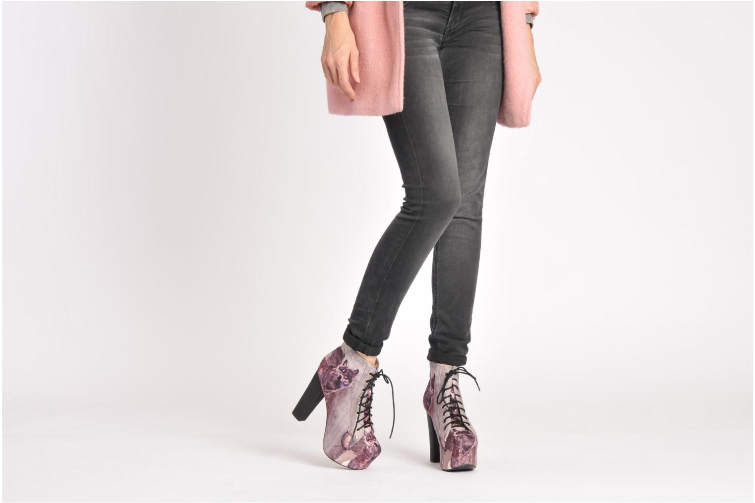 Ankle boots Jeffrey Campbell Lita Red view from underneath / model view