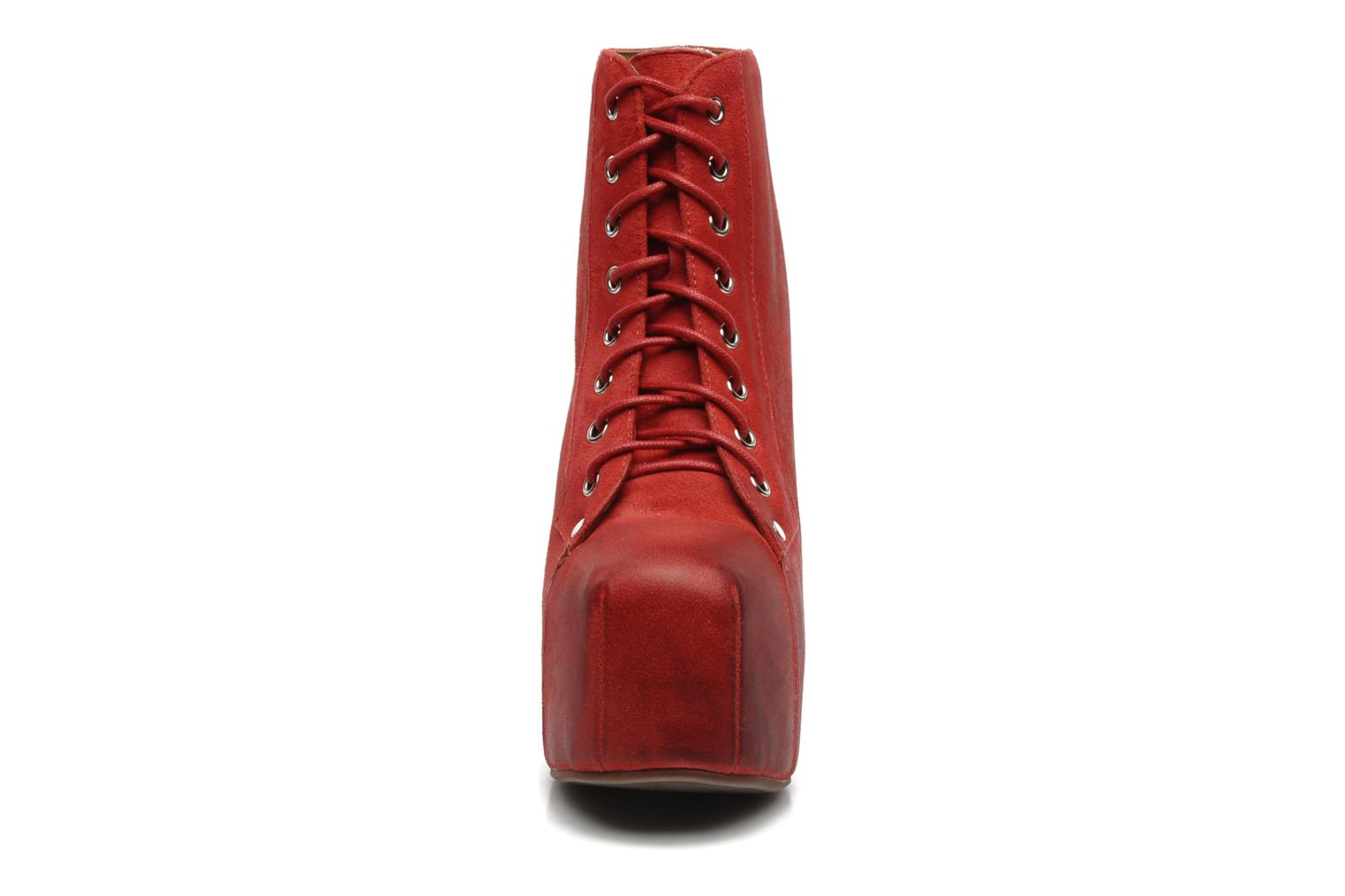 Ankle boots Jeffrey Campbell Lita Red model view