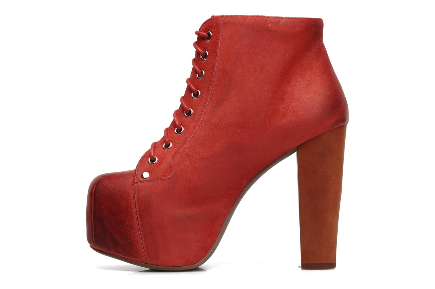 Ankle boots Jeffrey Campbell Lita Red front view