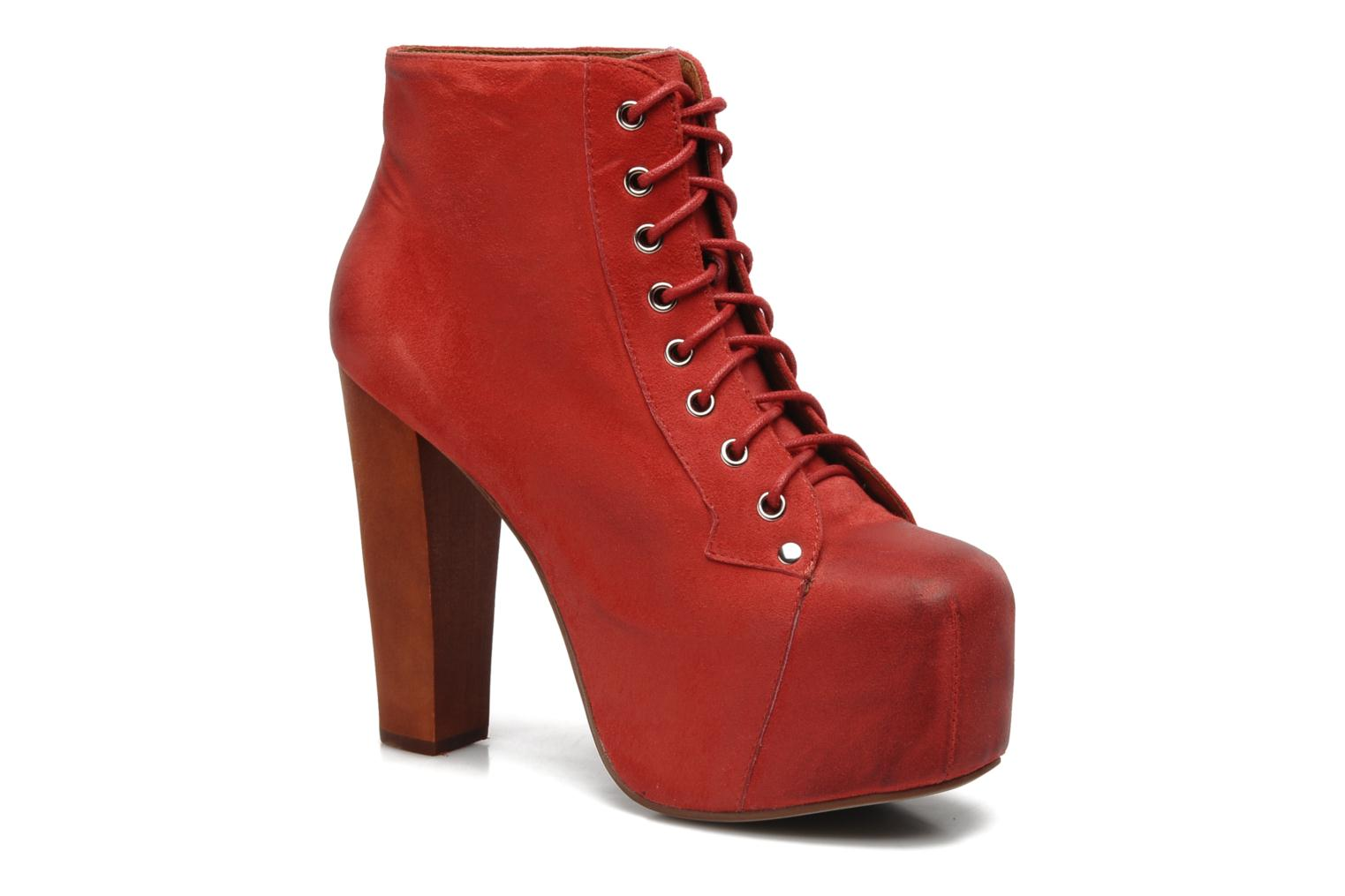 Ankle boots Jeffrey Campbell Lita Red detailed view/ Pair view