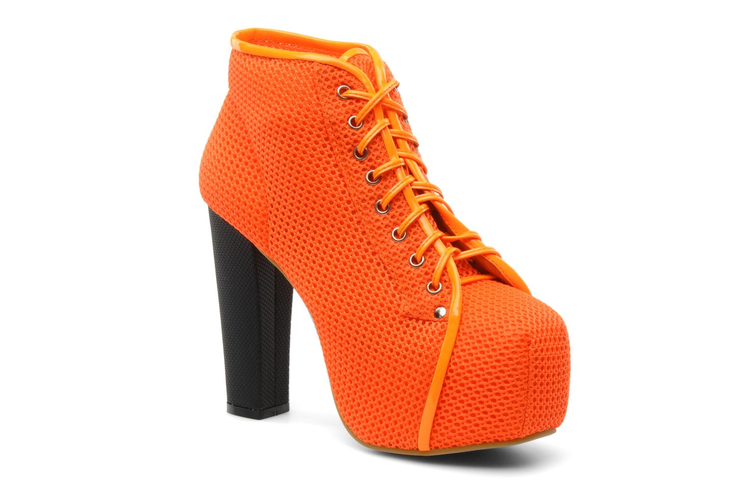 Ankle boots Jeffrey Campbell Lita Orange detailed view/ Pair view
