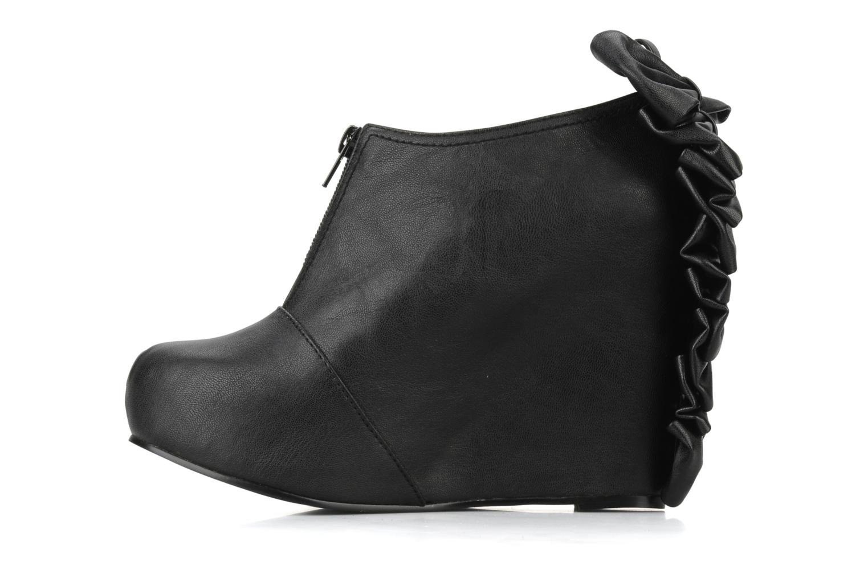 Bottines et boots Jeffrey Campbell Back bow Noir vue face